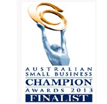Finalist for the 2013 Australian Small Business Champion Awards.