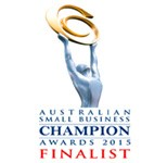 Finalist for the 2015 Australian Small Business Champion Awards.